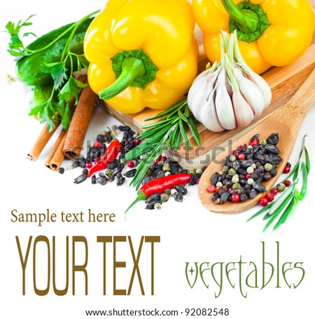 The composition of vegetable - stock photo