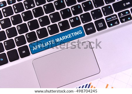 The computer keyboard button written word AFFILIATE MARKETING