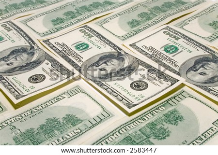 the concept background from some US dollars