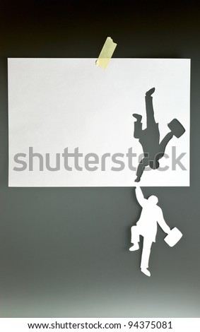 The concept image, place your text on a paper. - stock photo
