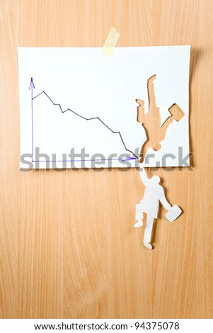 The concept image, the paper person tries will be kept. - stock photo