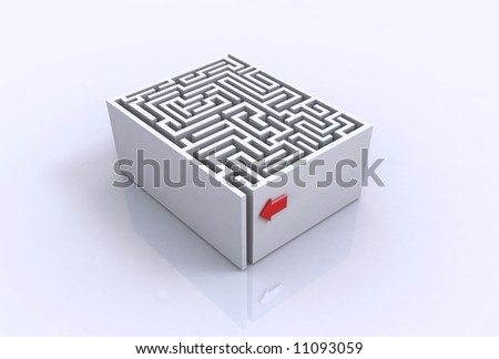 The concept of a labyrinth - stock photo