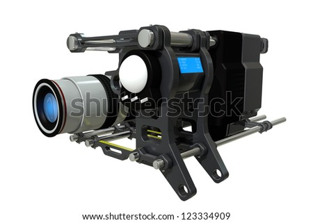 The concept of a modern, unusual optical device - stock photo