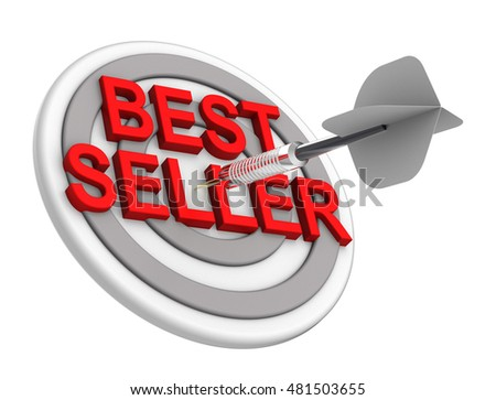 The concept of bestseller sign. 3D illustration.