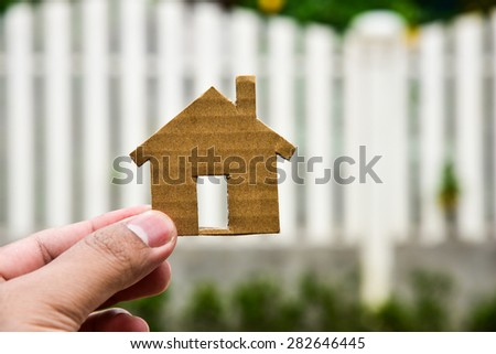 The concept of building houses on vacant land. For me and family - stock photo