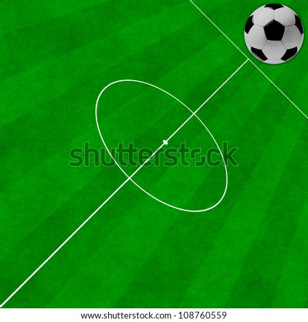 The concept of soccer to the background. - stock photo