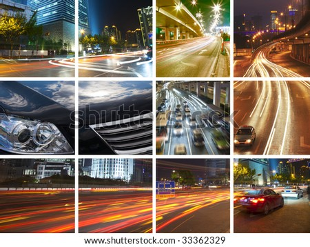the concept of the city traffic. - stock photo