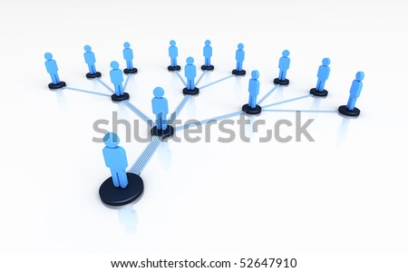 The concept of unity of people - stock photo