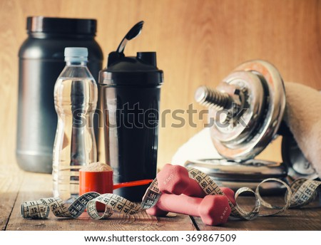 The concept of weight loss - stock photo
