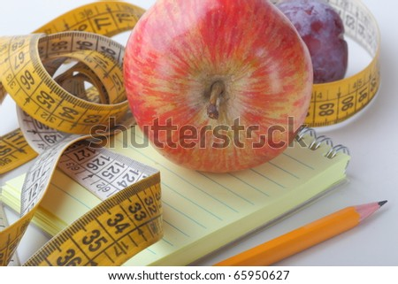 The concept photo of weight loss - stock photo