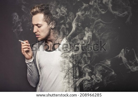 "The concept ""smoking kills""  - stock photo"