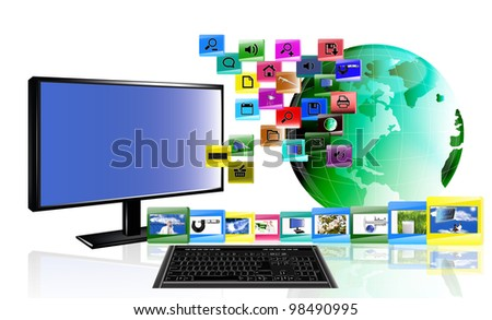 The concept the Internet - stock photo
