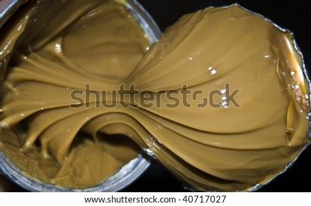 the condensed milk in bank - stock photo