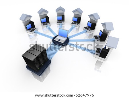 The connected computers in a network
