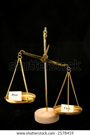 The cons outweigh the pros - stock photo