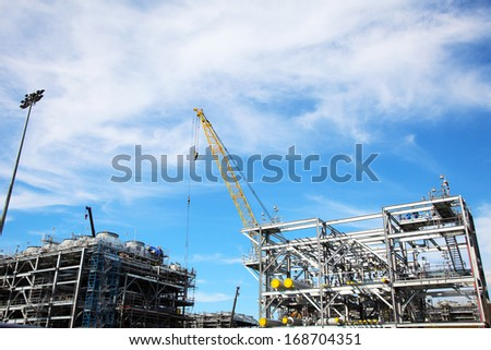 The Construction of Drilling Platform - stock photo