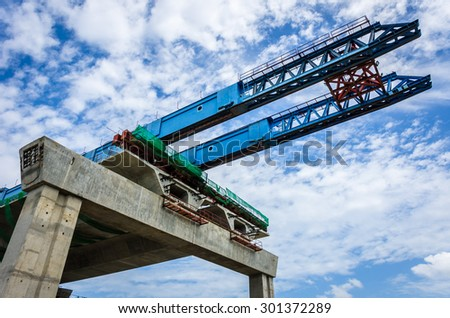 The construction of flyovers with innovation. - stock photo