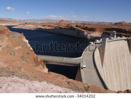 The Construction of this Dam led to the creation of Lake Powell which is made of several lakes linked together.