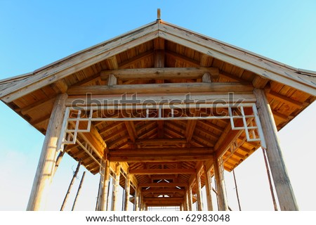 The construction of wooden houses