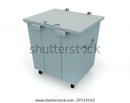 The container for dust isolated on light background