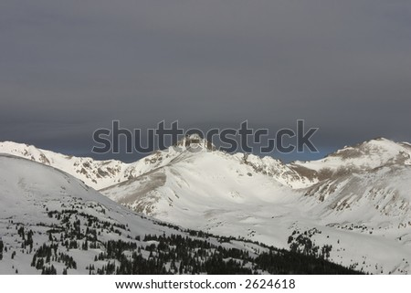 the continental divide in colorado - stock photo