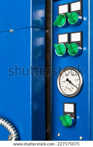 the control panel for a vacuum oven - stock photo