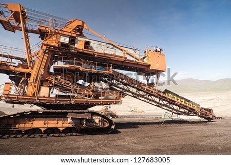 the conveyor in coal opencast - Most - Czech Republic