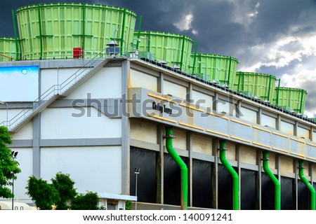 The cooling tower - stock photo