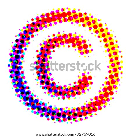 The copyright symbol should be the users of a copyrighted work pointed to the existence of copyright. - stock photo