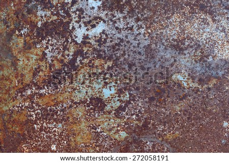 The core of corrosion - stock photo