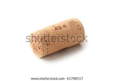 The cork isolated on white background - stock photo