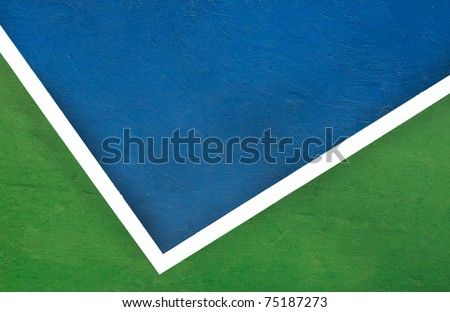 The Corner of tennis court, from top view - stock photo