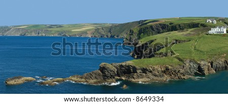 the cornish coast at port isaac cornwall england uk