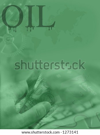 The corporate oil money machine - stock photo