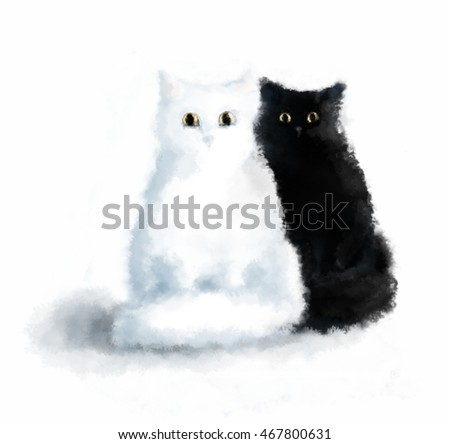 The couple of cats