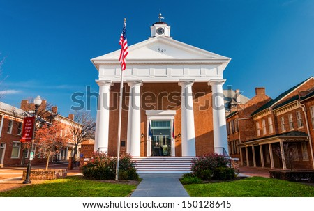 The Courthouse in Winchester, Virginia. - stock photo