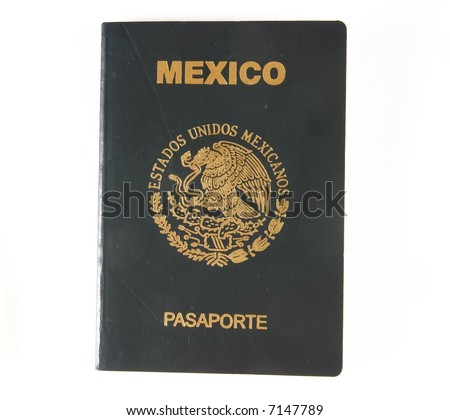 The cover of a mexican passport - stock photo