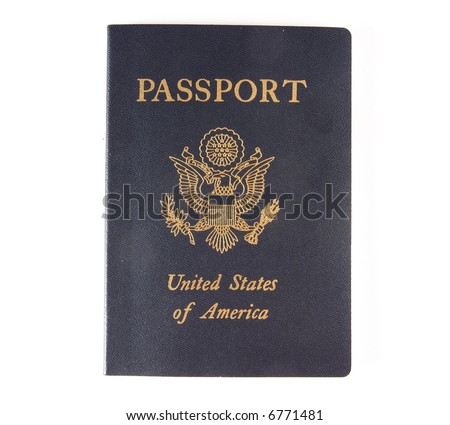 The cover of a US Passport. - stock photo