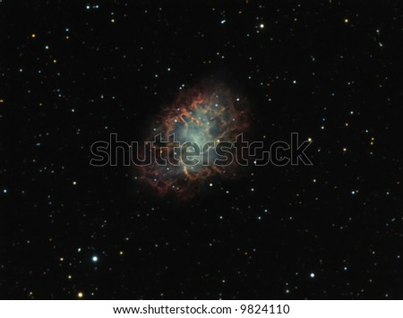 The Crab Nebula - stock photo