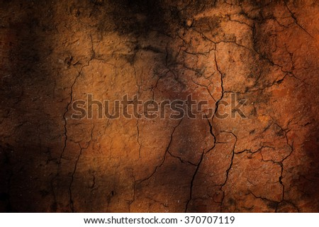 The cracked ground,  Soil texture and dry mud, Dry land. - stock photo