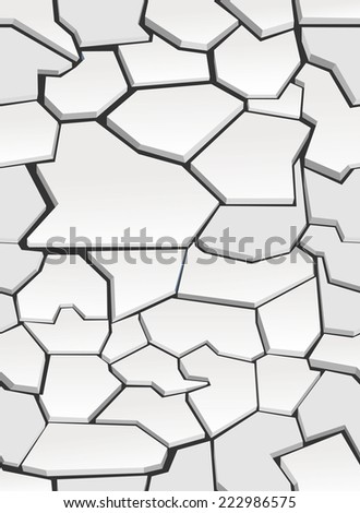 The cracks texture white .  background.Seamless wallpaper - stock photo