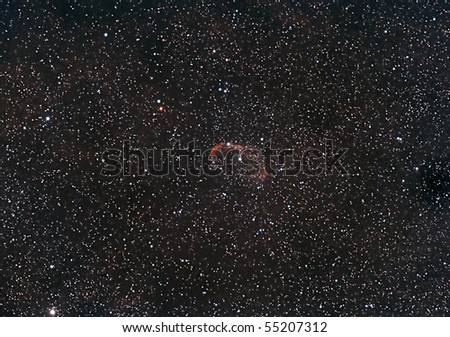 The Crescent Nebula - stock photo