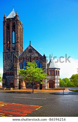 The Crescent Presbyterian Church  in Belfast, Northern Ireland - stock photo