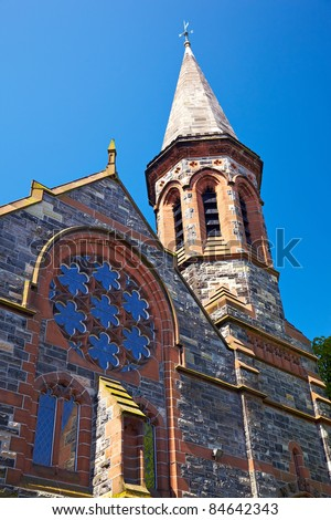 The Crescent Presbyterian Church on the University Road in Belfast, Northern Ireland - stock photo