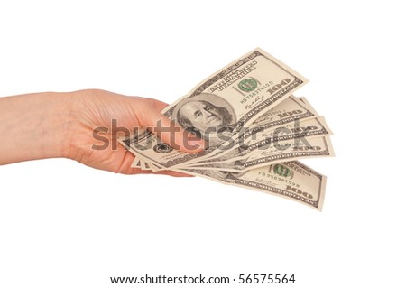 The criminal took dirty money in hands - stock photo