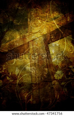The Cross Grunge - stock photo