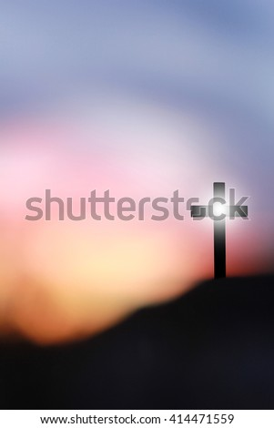 The Cross of Jesus Christ on a hill