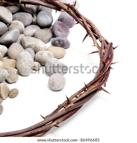 the crown of thorns of Jesus Christ - stock photo
