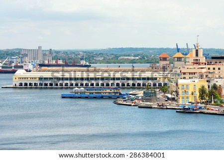 The cruise terminal in Old Havana - stock photo