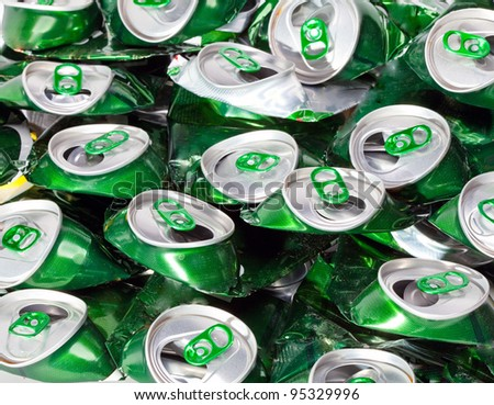 The crumpled  beer cans